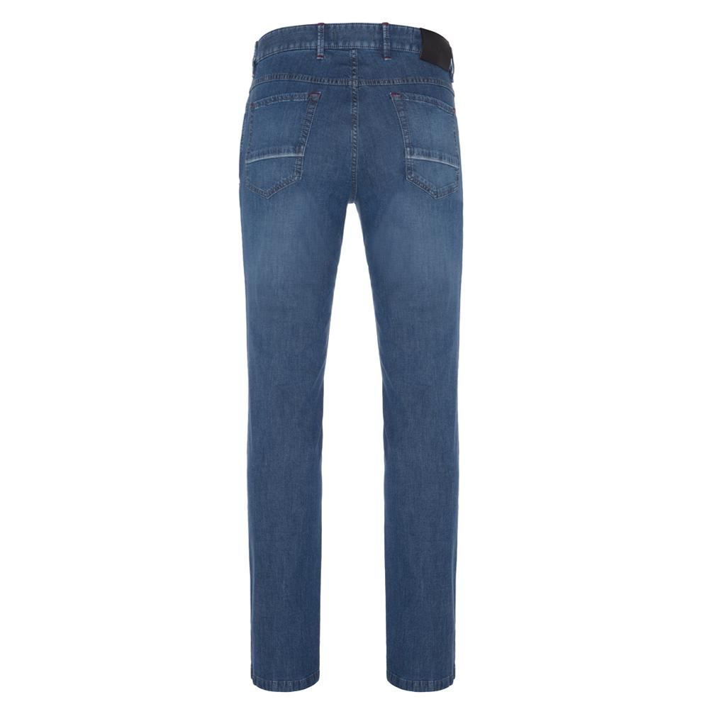 Hiltl 5 Cep İnce Mavi Dallas Denim Pantolon