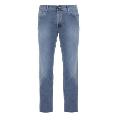 Hiltl - Hiltl 5 Cep İnce Mavi Denim Pamuk Elastan Pantolon