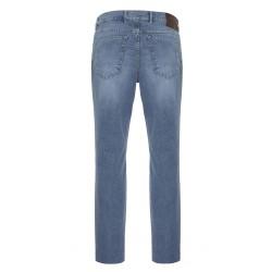 Hiltl 5 Cep İnce Mavi Denim Pamuk Elastan Pantolon - Thumbnail