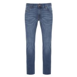 Hiltl - Hiltl 5 Cep İnce Mavi Denim Pamuk Tencel Elastan Slim Fit Pantolon