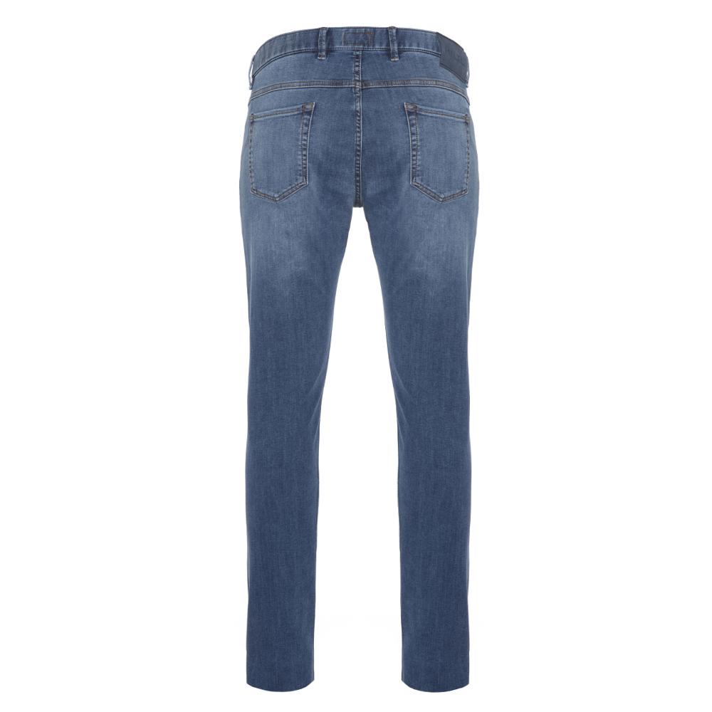 Hiltl 5 Cep İnce Mavi Denim Pamuk Tencel Elastan Slim Fit Pantolon