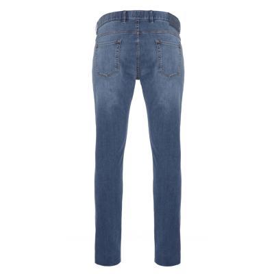 Hiltl - Hiltl 5 Cep İnce Mavi Denim Pamuk Tencel Elastan Slim Fit Pantolon (1)