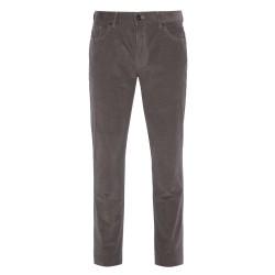 Hiltl - Hiltl 5 - Cep Kadife Dokulu Gri Pamuk Pantolon