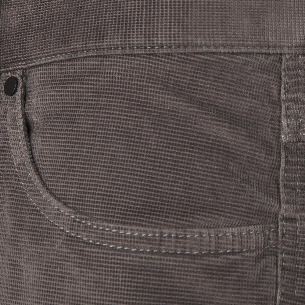 Hiltl 5 - Cep Kadife Dokulu Gri Pamuk Pantolon