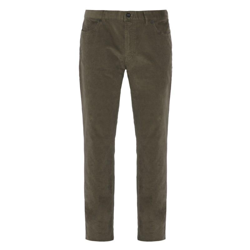 Hiltl - Hiltl 5- Cep Kadife Dokulu Yeşik Pamuk Pantolon