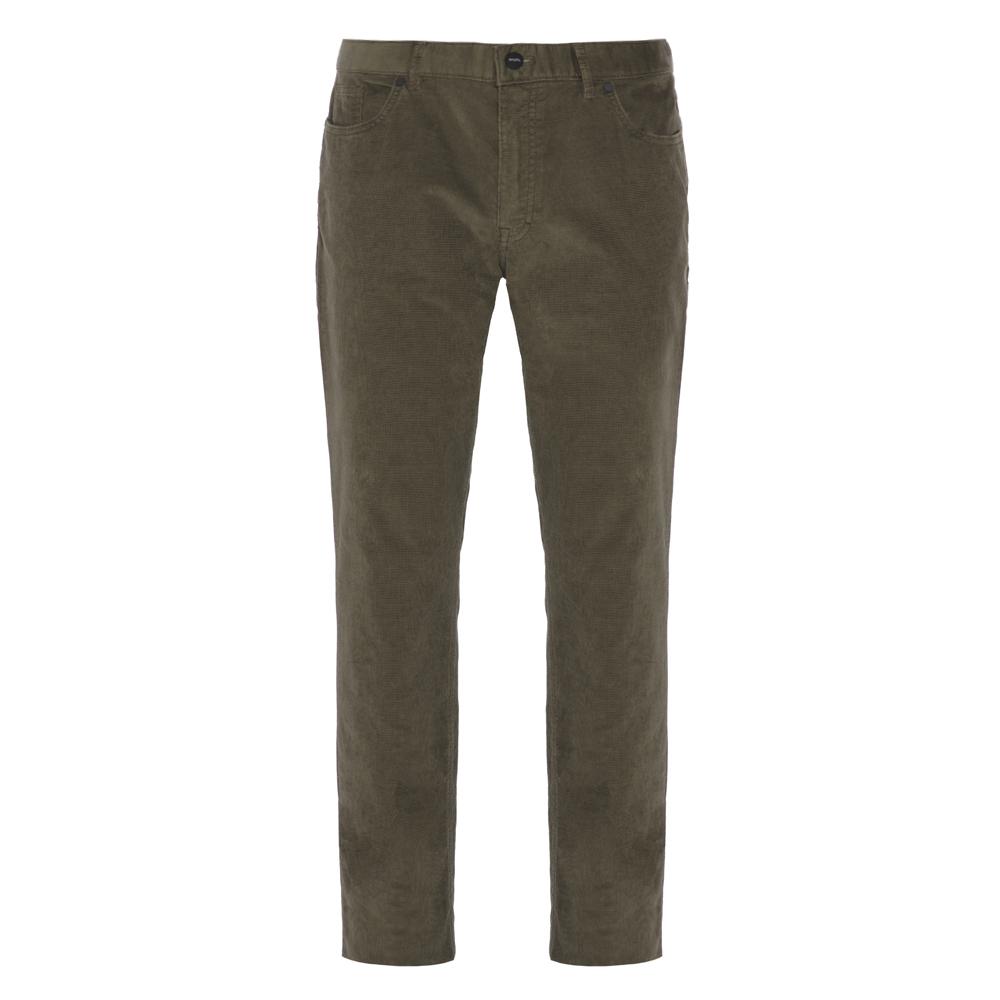 Hiltl 5- Cep Kadife Dokulu Yeşil Pamuk Pantolon