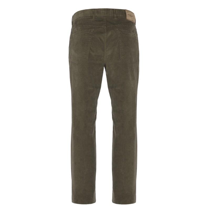 Hiltl - Hiltl 5- Cep Kadife Dokulu Yeşil Pamuk Pantolon (1)