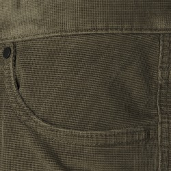 Hiltl 5- Cep Kadife Dokulu Yeşil Pamuk Pantolon - Thumbnail