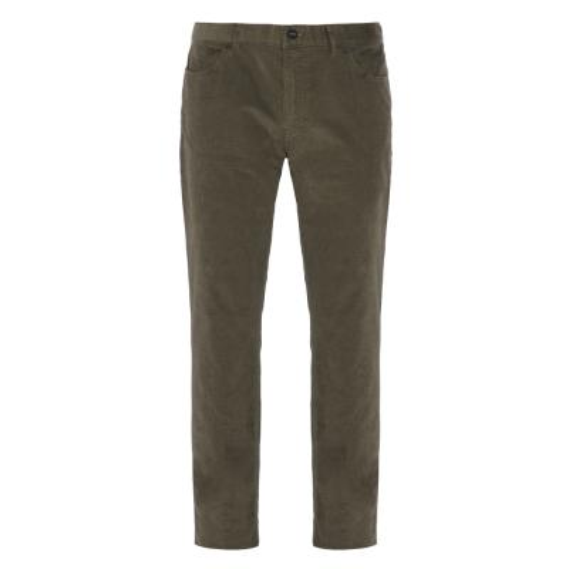 Hiltl - Hiltl 5- Cep Kadife Dokulu Yeşil Pamuk Pantolon