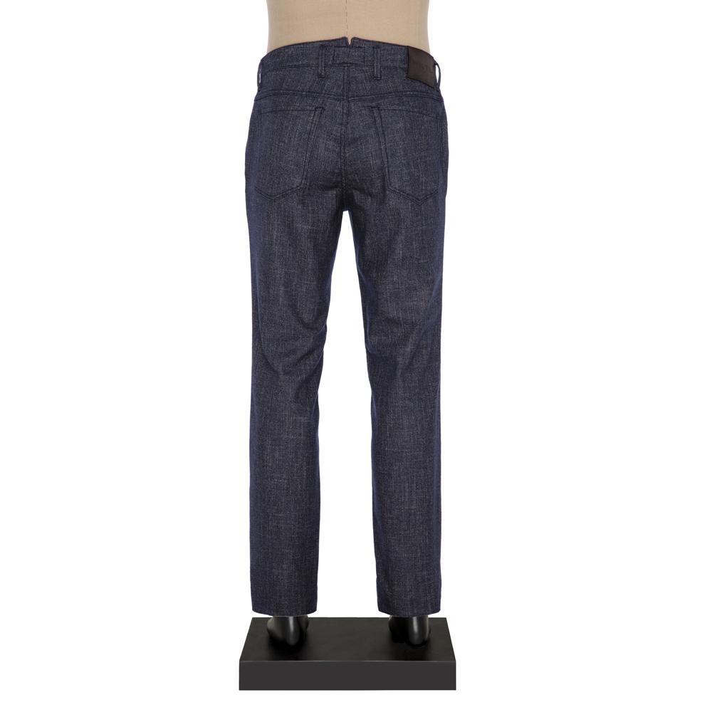 Hiltl 5-Cep Kırçıllı Lacivert Yün - Pamuk Pantolon