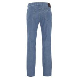 Hiltl 5 Cep Kot Mavi Pamuk Keten Tencel Pantolon - Thumbnail