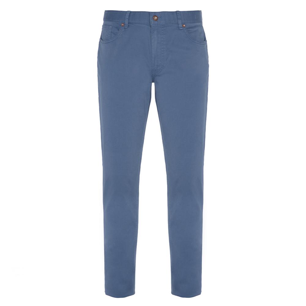 Hiltl - Hiltl 5 Cep Mavi Twill Pantolon