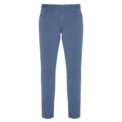 Hiltl 5 Cep Mavi Twill Pantolon