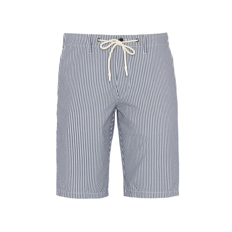 Hiltl - Hiltl Bermuda Laci Beyaz Çizgili Pantolon