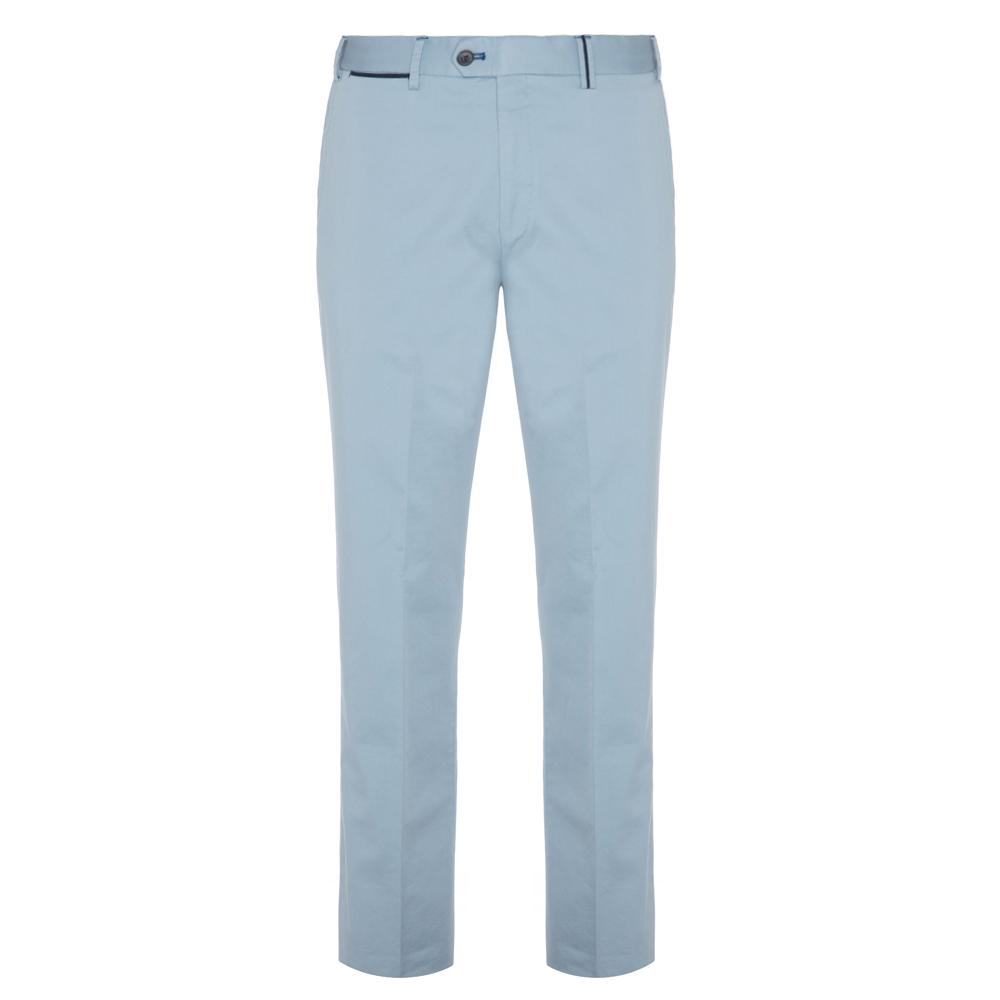 Hiltl Chino Açık Mavi Saten Dokuma Supima Pantolon