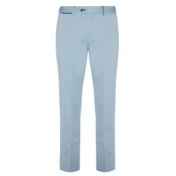 Hiltl - Hiltl Chino Açık Mavi Saten Dokuma Supima Pantolon