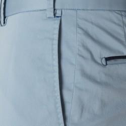 Hiltl Chino Açık Mavi Saten Dokuma Supima Pantolon - Thumbnail