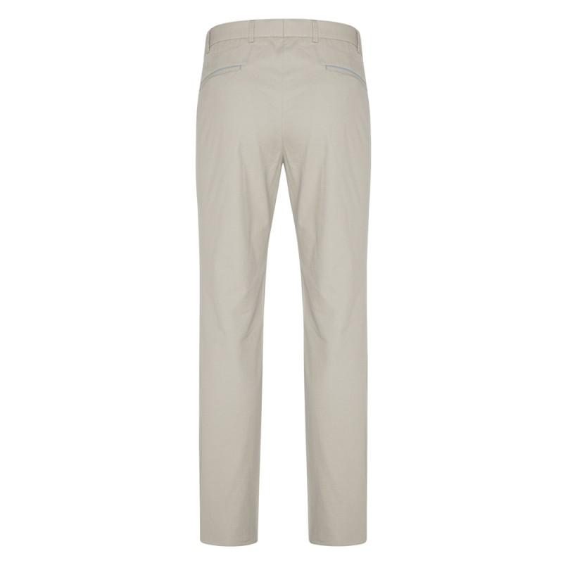 Hiltl - Hiltl Chino Bej Slim Fit Ripstop Twill Pamuk Elastan Pantolon (1)