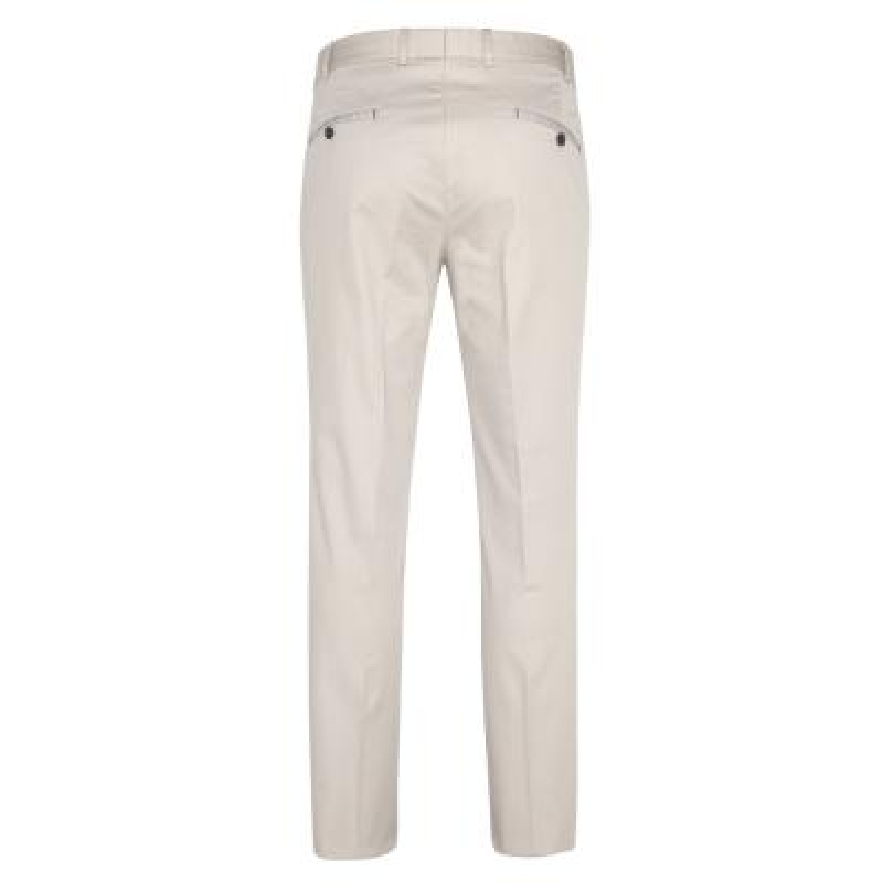 Hiltl - Hiltl Chino Bej Slim Fit Süper Fine Twill Pamuk Elastan Pantolon (1)