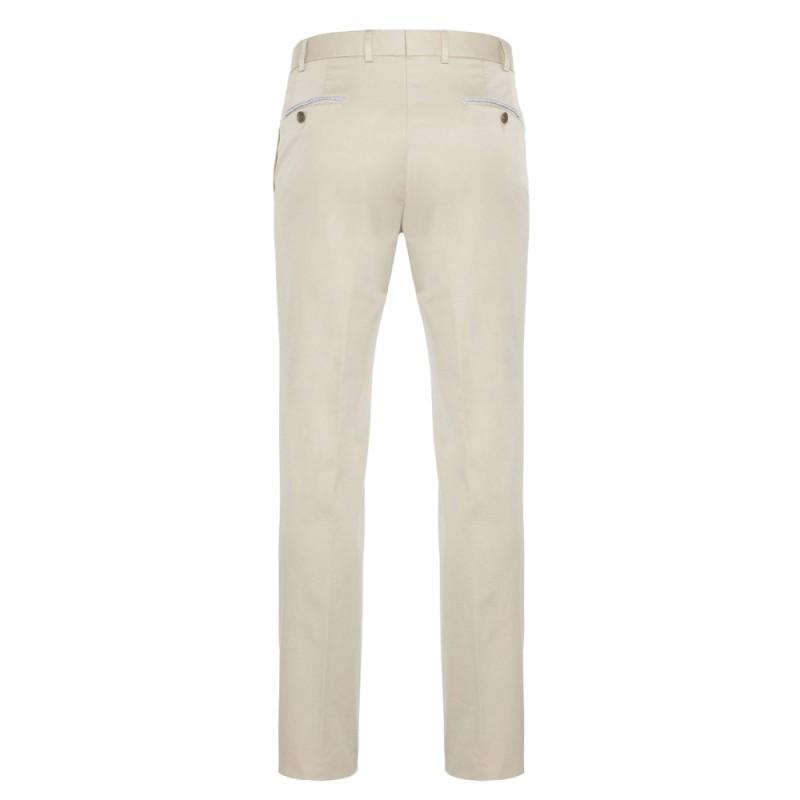 Hiltl - Hiltl Chino Bej Süper Fine Twill Supima Pamuk Elastan Pantolon (1)