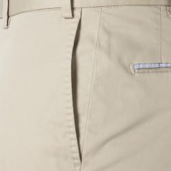 Hiltl Chino Bej Süper Fine Twill Supima Pamuk Elastan Pantolon - Thumbnail