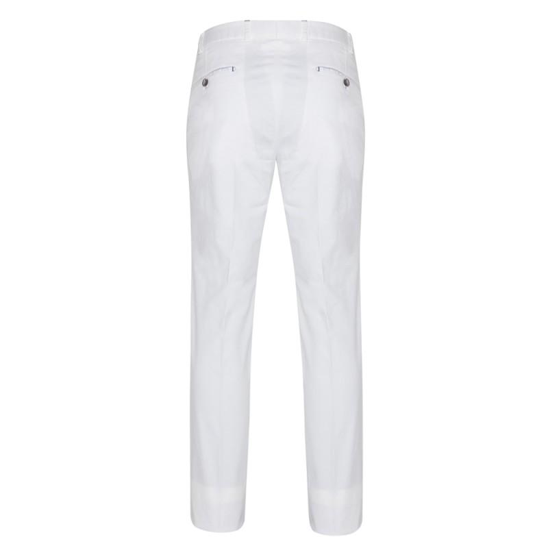 Hiltl - Hiltl Chino Beyaz Slim Fit Süper Fine Twill Pamuk Elastan Pantolon (1)