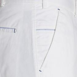 Hiltl Chino Beyaz Slim Fit Süper Fine Twill Pamuk Elastan Pantolon - Thumbnail