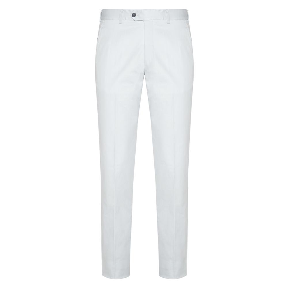 Hiltl - Hiltl Chino Buz Mavisi Slim Fit Süper Fine Twill Pamuk Elastan Pantolon