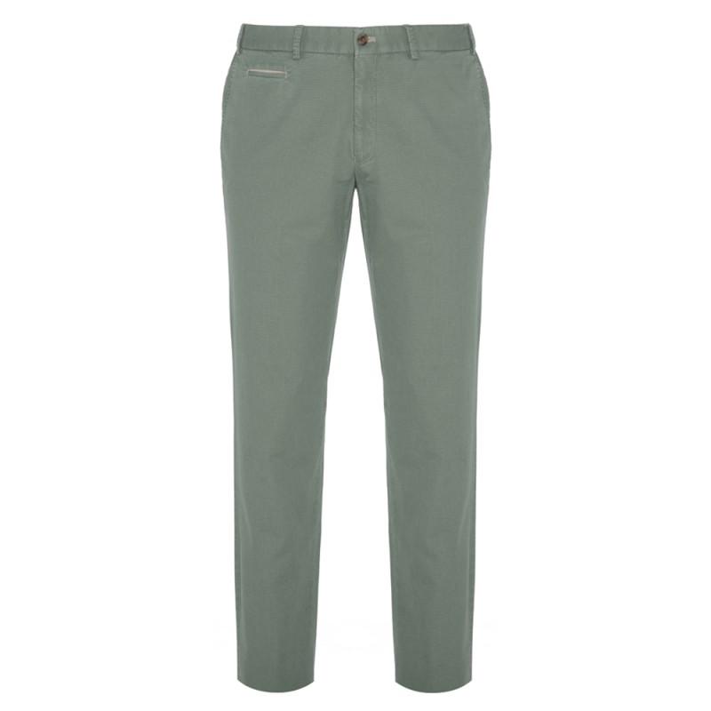 Hiltl - Hiltl Chino Almond Green Ripstop Twill Trousers