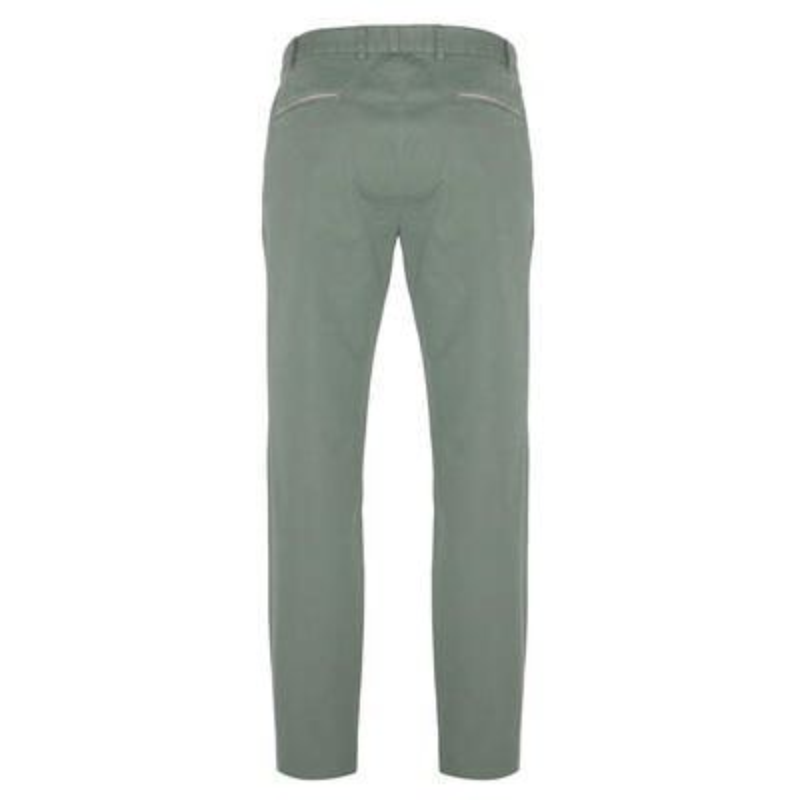 Hiltl - Hiltl Chino Almond Green Ripstop Twill Trousers (1)