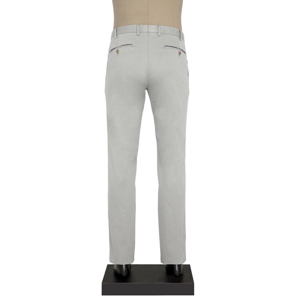 Hiltl CHINO CONTRAST TWILL GRI Pantolon