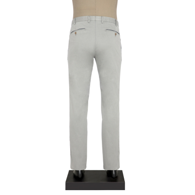 Hiltl - Hiltl CHINO CONTRAST TWILL GRI Pantolon (1)