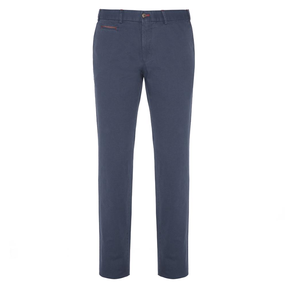 Hiltl Chino Havacı Mavi Ripstop Twill Pantolon