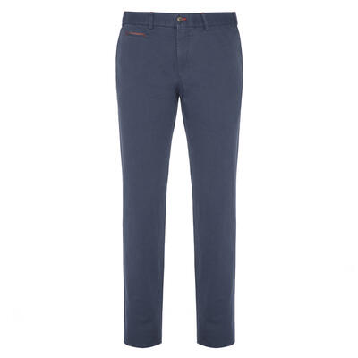 Hiltl - Hiltl Chino Aviator Blue Ripstop Twill Trousers