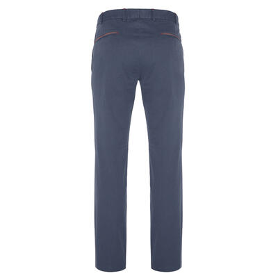 Hiltl - Hiltl Chino Aviator Blue Ripstop Twill Trousers (1)