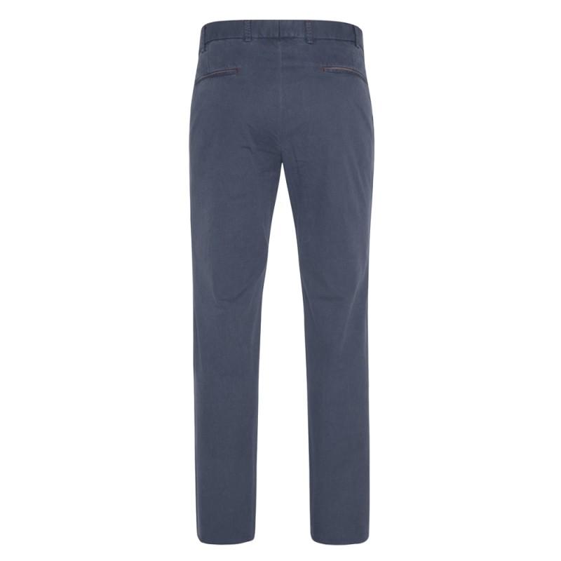 Hiltl - Hiltl Chino Havacı Mavi Slim Fit Ripstop Twill Pamuk Elastan Pantolon (1)