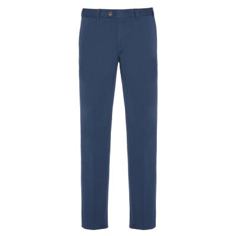 Hiltl - Hiltl Chino Havacı Mavi Supima Pantolon