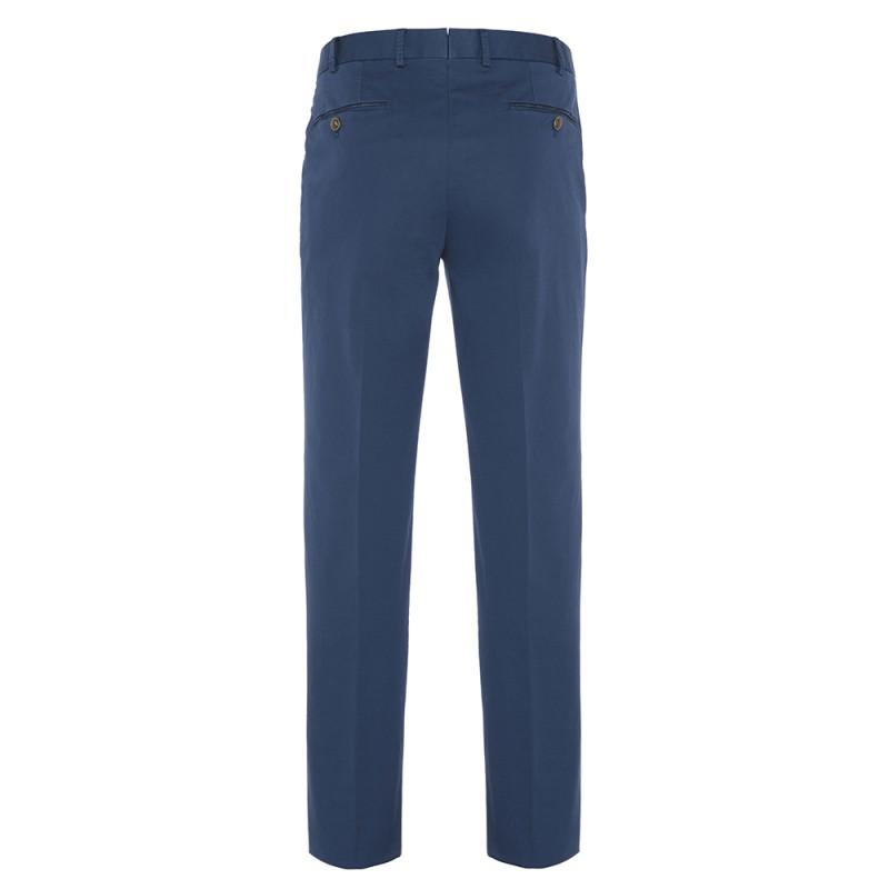 Hiltl - Hiltl Chino Havacı Mavi Supima Pantolon (1)
