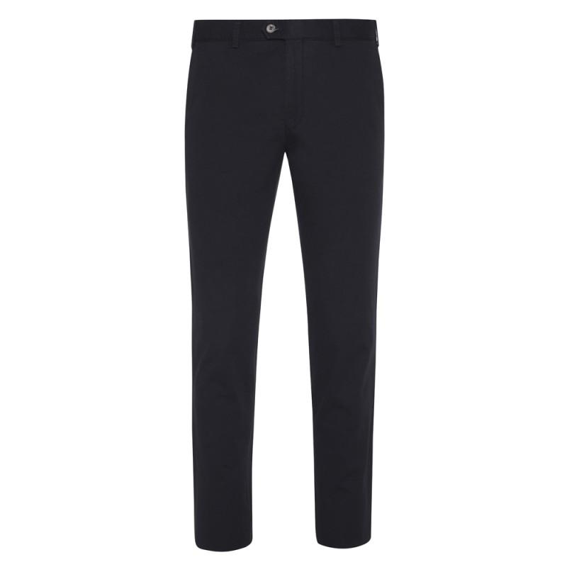 Hiltl - Hiltl Chino Lacivert Slim Fit Pamuk Elastan Pantolon