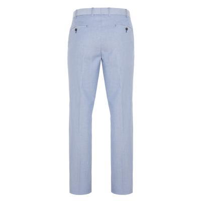 Hiltl - Hiltl Chino Mavi Comfort Oxford Pamuk Elastan Pantolon (1)