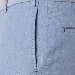 Hiltl Chino Mavi Comfort Oxford Pamuk Elastan Pantolon - Thumbnail