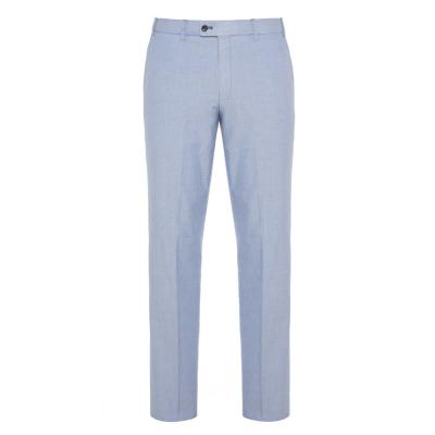 Hiltl - Hiltl Chino Mavi Comfort Oxford Pamuk Elastan Pantolon