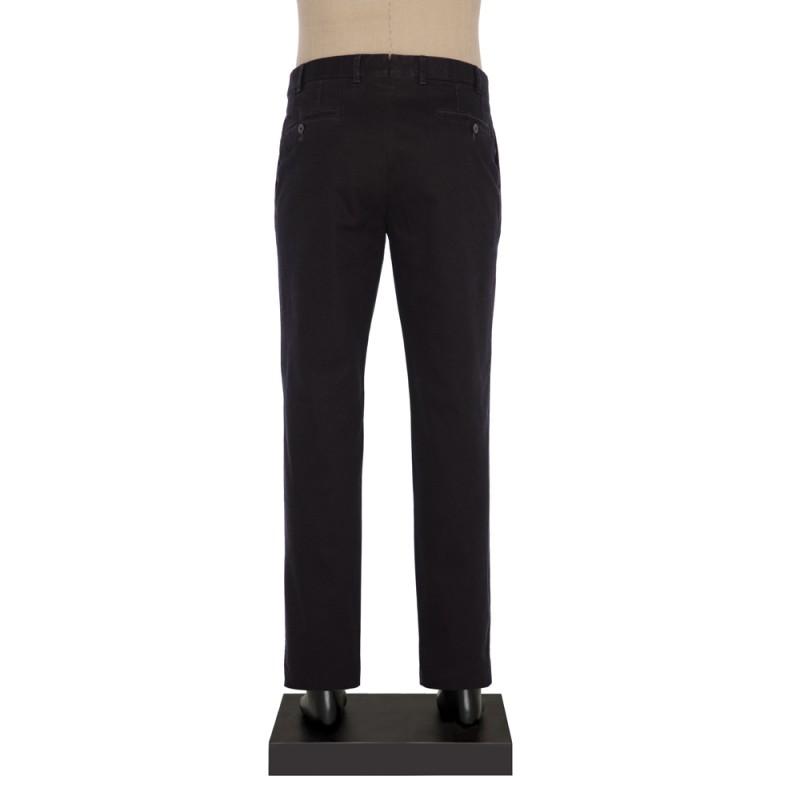 Hiltl - Hiltl Chino Micro Desenli Füme Pamuk Pantolon (1)