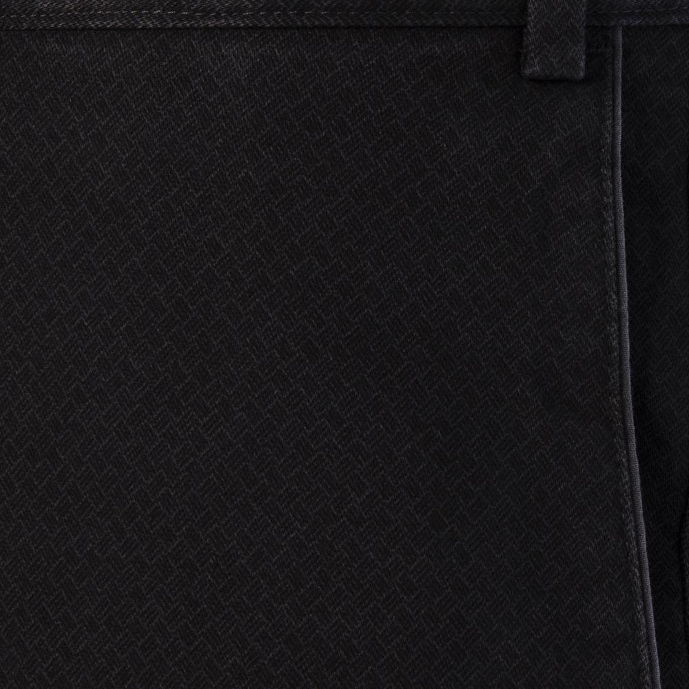 Hiltl Chino Micro Desenli Füme Pamuk Pantolon