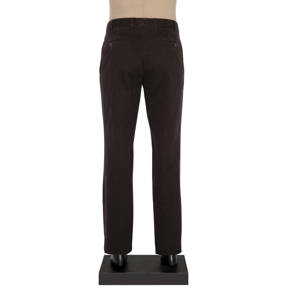 Hiltl Chino Micro Desenli Haki Pamuk Pantolon