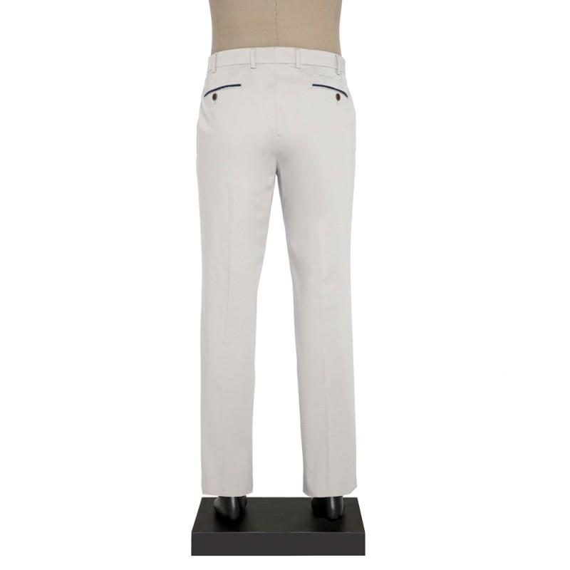 Hiltl - Hiltl CHINO SUPIMA SATEN A.GRI Pantolon (1)