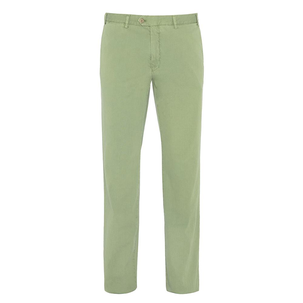 Hiltl - Hiltl Chino Yeşil Seersucker Pantolon