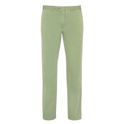 Hiltl Chino Yeşil Seersucker Pantolon - Thumbnail