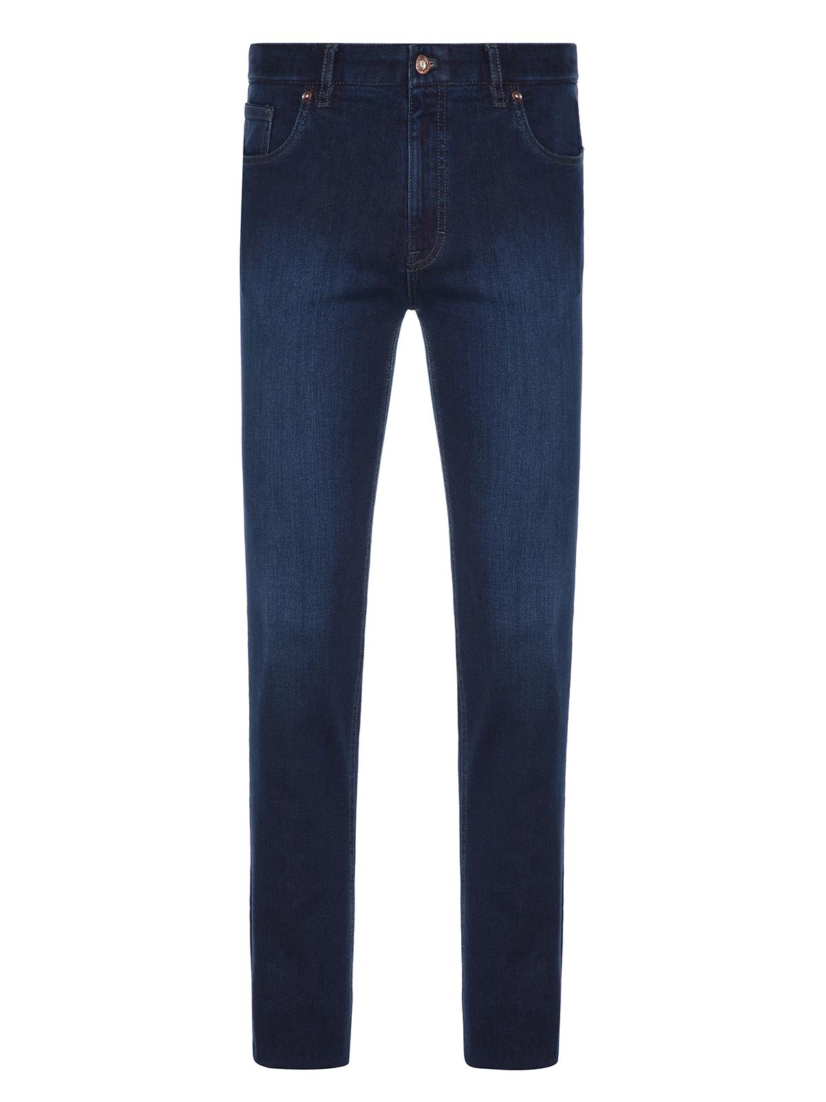 Hiltl - Hiltl Dry Denim Coton Elastane Lacivert Parker 5 Cep Regular Fit Pantolon