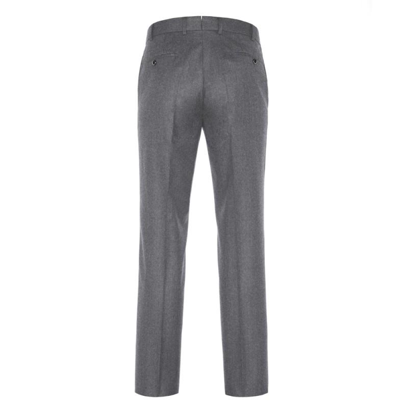 Hiltl - Hiltl Flanel Gri Yün Pantolon (1)